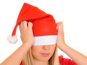 Julluvan nedanför ögonen